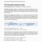 First Parameter Arguments