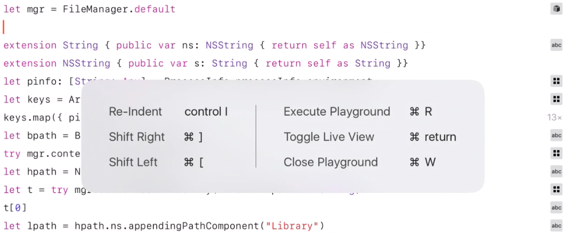 A few interesting things about iOS Swift Playgrounds — Erica